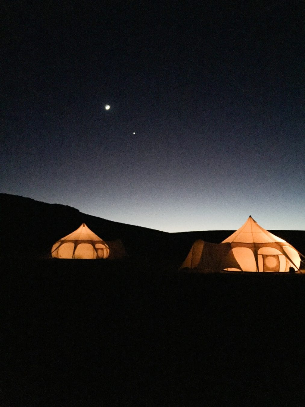 Glamping in the Desert