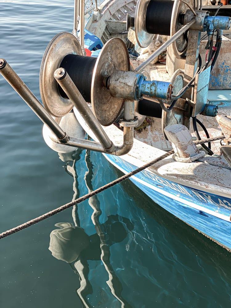 port of Kavala Greece boat