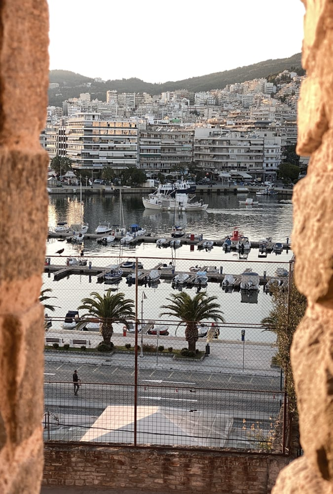 port of Kavala Greece from the old city