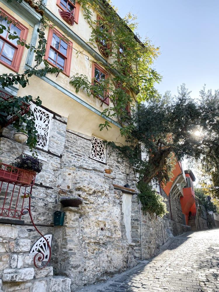 old city Kavala Greece boat