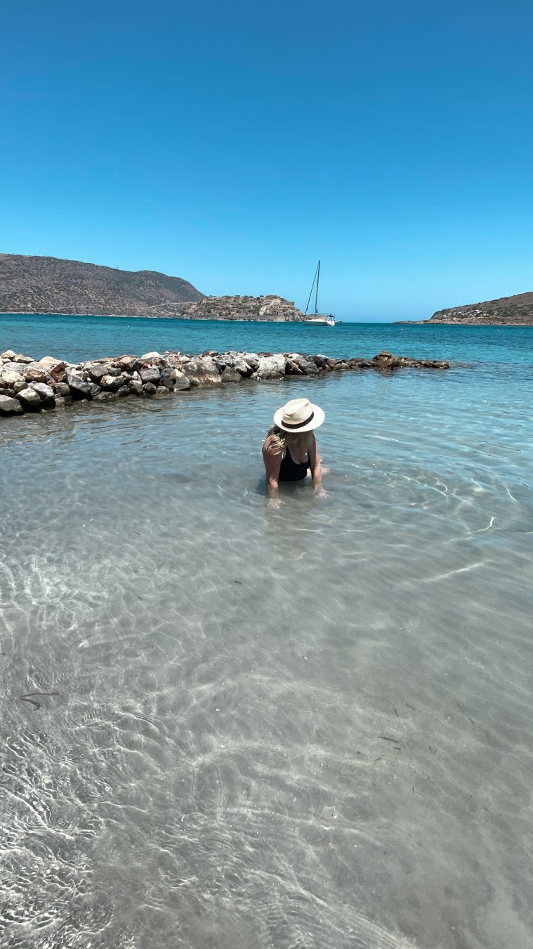 beach at our suite at Domes of Elounda crete greece